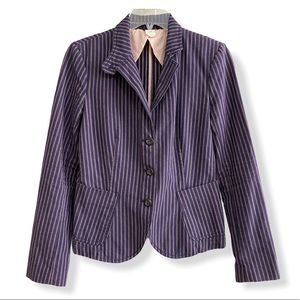 J. Crew Striped Blazer Casual Suit Jacket Purple